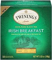 Twinings Irish Breakfast Tea, Tea Bags, 50 Count (Pack of 6) by Twinings