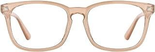 TIJN Blue Light Blocking Glasses Square Nerd Eyeglasses Frame Anti Blue Ray Computer Game Glasses