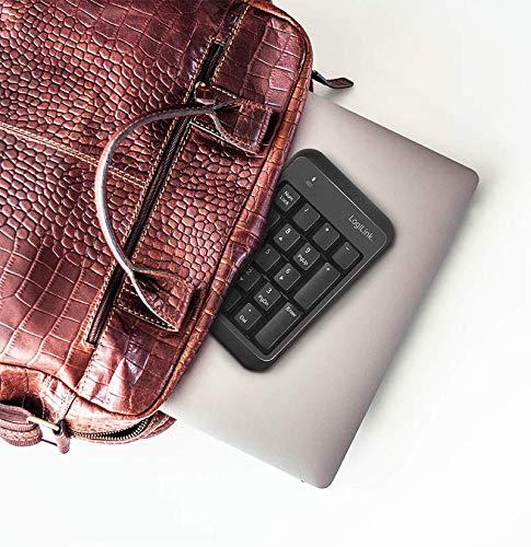 LogiLink ID0201 - Kabelloses (Bluetooth V5.1) Keypad, schwarz