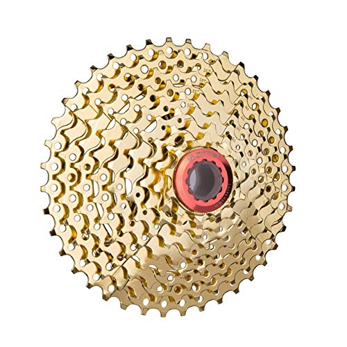 Ljourney Kassette 9 Fach Fahrrad Kassetten 11-40T Für Fahrrad/Rennrad/Mountainbike Nickel Chrom Silber