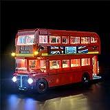 QXT Set di luci per Lego 10258, Kit di luci a LED Compatibile con Il Modello di Blocchi (creatore Expert London Bus) (Non Incluso Il Modello)