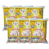 【国産】オシッコのニオイ 超吸収 ミィちゃんの猫砂 2つ穴タイプ 大容量7L×6袋 【猫砂 おから】
