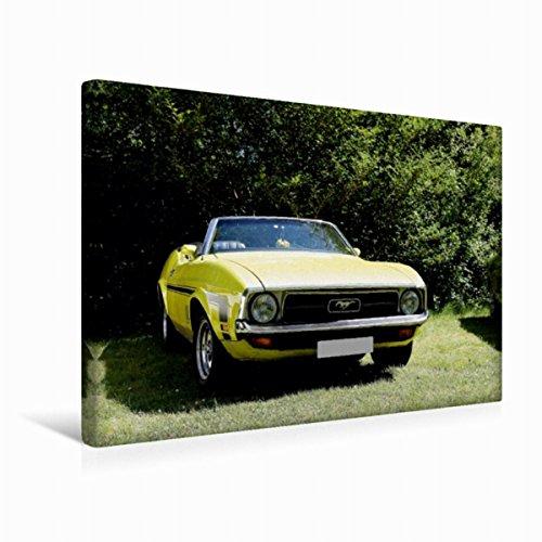 CALVENDO Premium Textil-Leinwand 45 cm x 30 cm quer, Ford Mustang | Wandbild, Bild auf Keilrahmen, Fertigbild auf echter Leinwand, Leinwanddruck: EIN toller Oldtimer Mobilitaet Mobilitaet