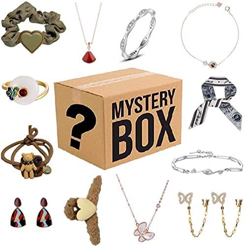 Caja misteriosa para mujer, caja ciega de joyería Lucky Box, caja sorpresa misteriosa, contiene 12 joyas exquisitas, regalo sorpresa perfecto para tu amante o para ti mismo