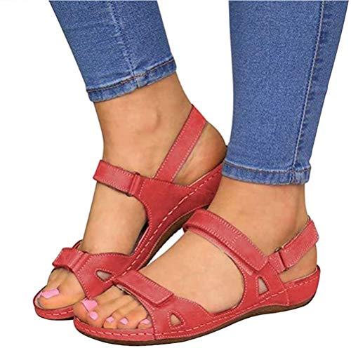 Dames sandalen sleehak open teen slippers voor zomer casual dagelijkse slijtage met verstelbare gesp maat 35-43