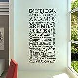 JQSM 10 Juegos Reglas de Vida españolas de Vinilo Pegatinas de Pared DIY decoración del hogar Sala de Estar Dormitorio Tatuajes de Pared de Arte Murals 112X56 cm