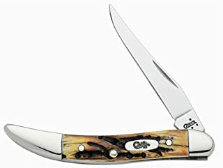 Case Small Genuine Stag Texas Toothpick Pocket Knife