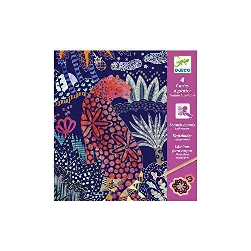 Djeco DJ09728 Djeco Kratzbilder Üppige Natur, Multicolour