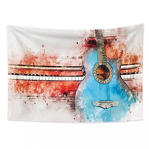 Guitarra Musical Abstracta Creativa Tapiz Indio Hippie Mandala Colgante de Pared Colcha Bohemia Dormitorio decoración Alfombra de Pared-1.3X1.5m