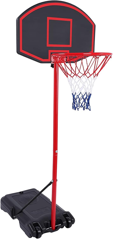 Gelbchu Removable Adjustable Teenager Tampa Mall Re SALENEW very popular! Basketball Rack Black