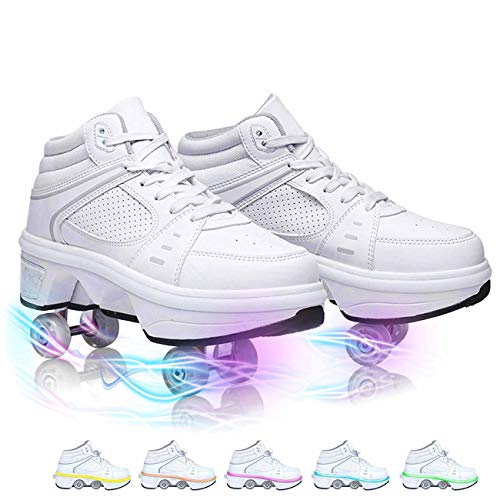FBEST Deformables Patines De Ruedas para Ninos Multiusos 2 En 1 Hombres Mujeres Multifuncionales Zapatos Zapatillas De Deporte Al Aire Libre Calzado