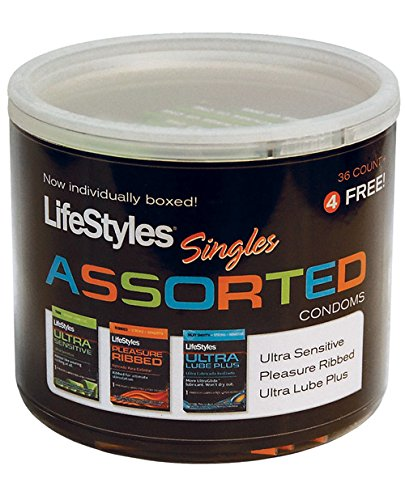 LifeStyles Assorted Condoms - 40 count jar