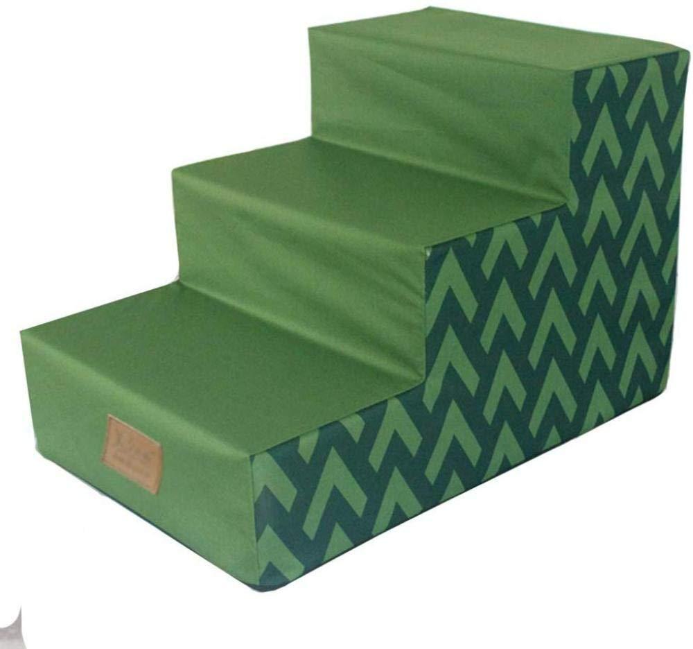 RAXYQ Escaleras Verdes Impermeables para Perros Escalera para Mascotas con 3 Escalones para Perros Pequeños Cojín Lavable para Peldaños para Mascotas: Amazon.es: Hogar