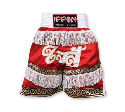 IPPON Kickboxen & K1 Shorts schwarz/weiß Kinder Medium