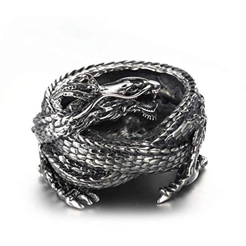 YAeele Joyería de Plata y Acero Inoxidable Europea American Dragon Cenicero Regalo de la decoración de Acero de Titanio 4.5 * 6.5 (cm) Delicada Hermosa