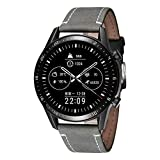 BINLUN Bandas de Reloj compatibles con Huawei GT / GT2 42mm 46mm / Huawei Watch 2 Classic/Sport Smartwatch Quick Release Correa de Cuero de Caballo Loco Reemplazo 20mm 22mm Pulsera de Pulsera