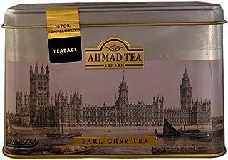 Ahmad Tea- London in Silber mit Londoner Motive aus 20 Earl Grey Schwarzer Beutel- Tee