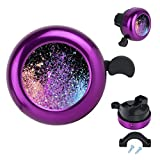 Cristin Tang Bicycle Bell Glittery Cute Clear Sound Adjustable Size Aluminum Bike Accessories Bell Ring for Girls Women Kids Adults Purple