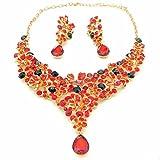 Yulaili Juego de joyería de Diamante de Perlas para Boda, Collares de Cristal Fresco Hechos a Mano, Collar de joyería con Gemas de Moda (como en la Imagen)