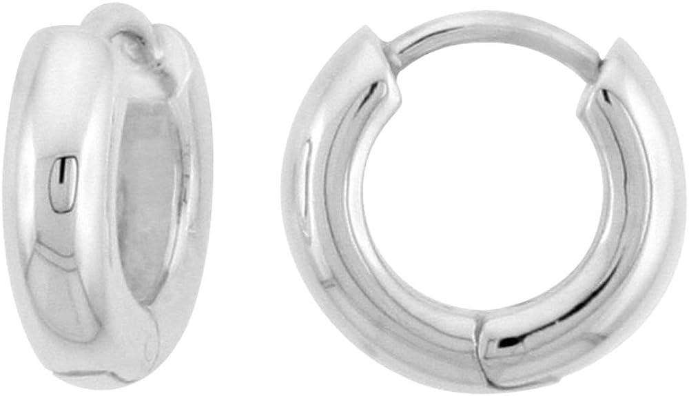 Sterling Silver Huggie Earrings U-Shape 7 Max 42% OFF Flawless in Finish Bargain 16
