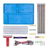 SunFounder Raspberry Pi RAB Holder Breadboard Kit with 830 Points solderless Circuit Board Raspberry Pi Holder for Arduino R3, Mega 2560 & Raspberry Pi 4B, 3B+, 3 Model B, 2 Model B and 1 Model B+