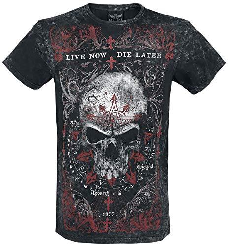 Alchemy England Demons Birth Vintage Homme T-Shirt Manches Courtes Gris foncé XXL