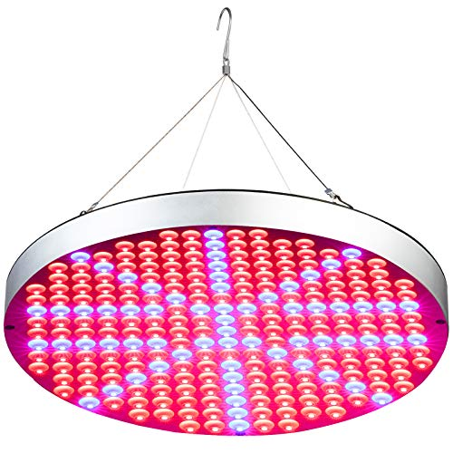 50W LED Plant Grow Lights, Shengsite UFO 250 LEDs Indoor Plants Growing Lamp Bulbs with Red Blue Spectrum Hydroponics Plant Hanging Kit for Germination,Vegetative&Flowering