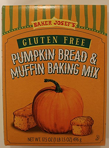 Trader Joe's Baker Josef's Gluten Free Pumpkin Bread & Muffin Baking Mix, 17.5 Ounce Box