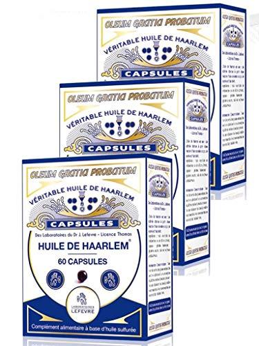 Véritable Huile de Haarlem, lot de 3 x 60 capsules originales (3)
