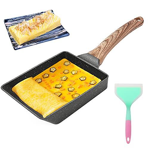 Tamagoyaki Pfanne, Japanische Omelette Eierpfanne Nonstick Aluminium Rechteckig kleine Pfanne, Geeignet für Gasherd und Induktionsherd