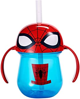 The First Years Marvel Spider Man Straw Cup with Handles, 7 Ounce