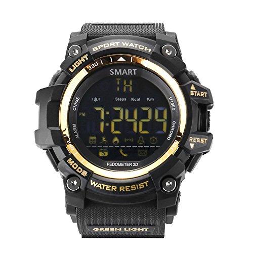 AOKII Outdoor Waterproof IP67 Bluetooth Sport Smart Watch with Android and IOS Smartphones (Golden)