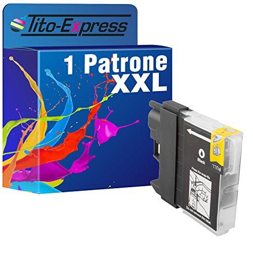 Tito-Express PlatinumSerie 1 Patrone XXL kompatibel mit Brother LC-980 XL Black   DCP145C DCP163C DCP165C DCP167C DCP197C DCP365CN DCP373CW DCP375CW DCP377CW MFC250C MFC255CW MFC290C MFC295CN MFC297C