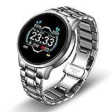 BFL Moda Smart Watch Men and Women Ejercicio Fitness Tracker, Adecuado para Android iOS Tarifa cardíaca Monitor de presión Arterial A Prueba de Agua Smartwatch,B
