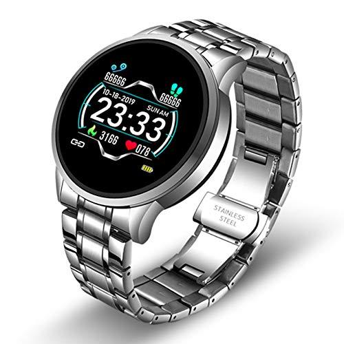 LJMG Relojes Inteligentes, Relojes Electrónicos Inteligentes para Hombres, Alta Gama, Presión Arterial, Relojes Digitales, Moda, Calorías, Relojes Deportivos No Molestar A Android iOS Mode,B