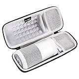 LTGEM EVA Étui rigide Sac de rangement de voyage pour Bose SoundLink Revolve Enceinte Bluetooth Speaker.Compatible avec câble USB et chargeur mural.
