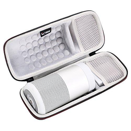 LTGEM EVA Duro Caso Viajar Proceso de Llevar Almacenaje Bolsa para Bose SoundLink Revolve Altavoz Bluetooth portátil.Fits USB Cable y Pared Cargador.
