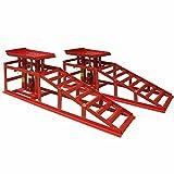 Deet® Schwere Rampen Auto Heberampen mit 1,5 Tonnen Wagenheber für extra Hebebühne Professionelles hydraulisches Auto Hebe-Set