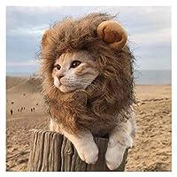 大型犬用の犬用帽子 ライオン豪華な耳の犬のヘルメットペット帽子の小さな中帽のためのヘッドペット製品猫帽子誕生日パーティー衣装 犬の日よけ帽 (Color : Brown, Size : S)