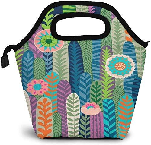 Bolsa de almuerzo aislada suculenta de selvas tropicales, caja Bento personalizada, enfriador de picnic, bolso portátil, bolsa de almuerzo para mujeres, niñas, hombres, niños