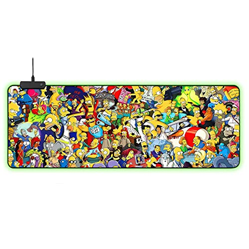 Zusvus Mouse Pad,RGB Gaming Anime Mouse Mat 31.5x11.8Inch Large Non-Slip Desk Mat for Office Home & Gamer