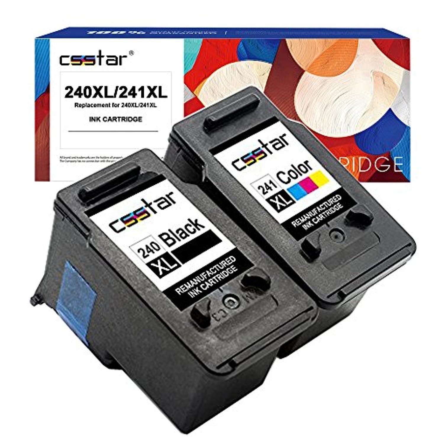 CSSTAR Remanufactured Ink Cartridge Replacement for Canon PG-240XL CL-241XL 240 241 XL for PIXMA MG3620 MG3520 MX532 MG3220 MX472 MX452 MX432 MG3522 MG3120 MG3122 MG2220 MX392 Printer, Black and Color