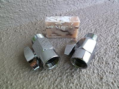2 Brass Shower Flow Control Valves with Handmade Soap (3 Piece Bundle) - Chrome from NEATitems
