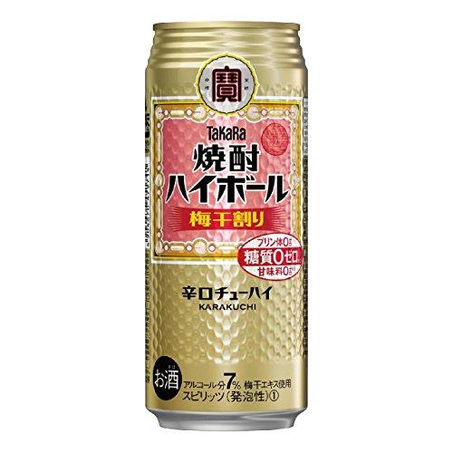 宝 焼酎ハイボール 梅干割り 500ml×1ケース(24本) ■2箱まで1個口発送可 [並行輸入品]