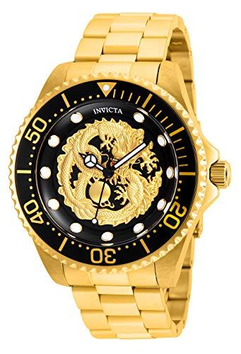 INVICTA Herren Analog Automatik Uhr mit Edelstahl Armband 26490