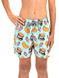 Dolfin Boy's Uglies 5' Shorty Swimsuit (Buger Time, Youth Large)