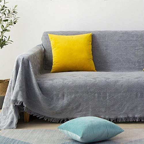 Manta de tela escocesa de algodón tejida, toalla, mantón de siesta de oficina, manta de aire acondicionado de ocio, tapiz de sofá, decoración