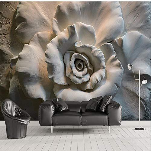 Zelfklevende muurschildering op maat van elke grootte Fotobehang Europese Stijl Bloemen Woonkamer Waterdichte Achtergrond Muursticker 140 cm.