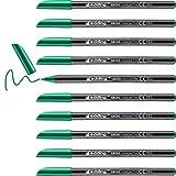 Edding 1200 rotulador de color de trazo fino - verde - 10 rotuladores - punta redonda de 1 mm - marcador dibujar y escribir