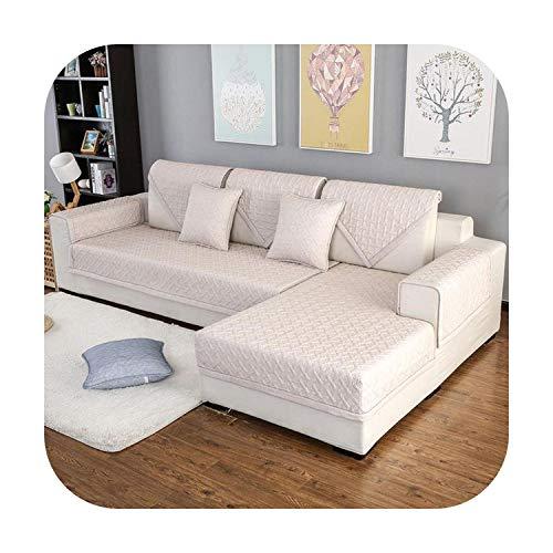 Funda de sofá de punto debe ordenar 2 piezas Si es de esquina chaise longue sofá cubierta para la sala de estar, Color1, 70X210cm 1pc